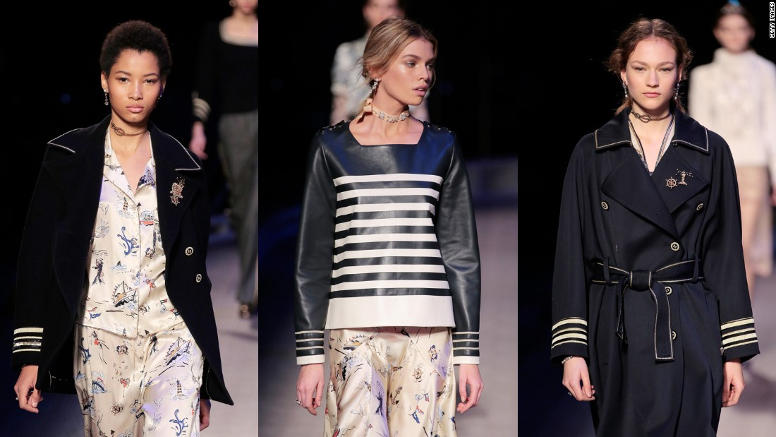 We have sailors to thank for the Breton stripe, the sailor's hat and the pea coat, among other things.
