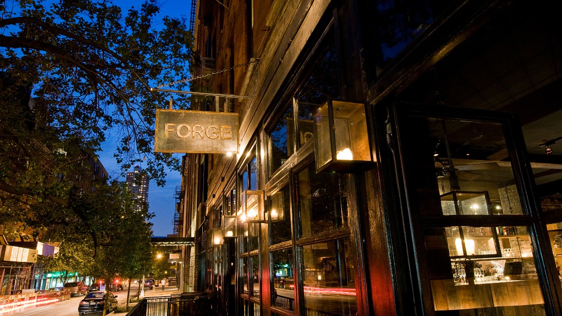 """Forgione opened his award-winning restaurant, """"Restaurant Marc Forgione"""" (formerly known as Forge) in 2008, with Christopher Blumlo."""