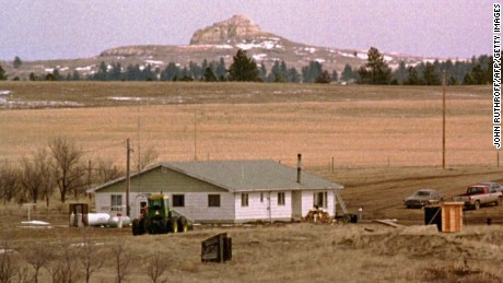 Members of the Freemen holed up on a 960-acre ranch near Brusett, Montana, in 1996.
