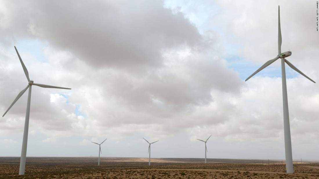 The renewable wind energy sector is bolstering the manufacturing sector. Seventy percent of the spare parts for the turbines at Tarfaya (pictured) are constructed locally.