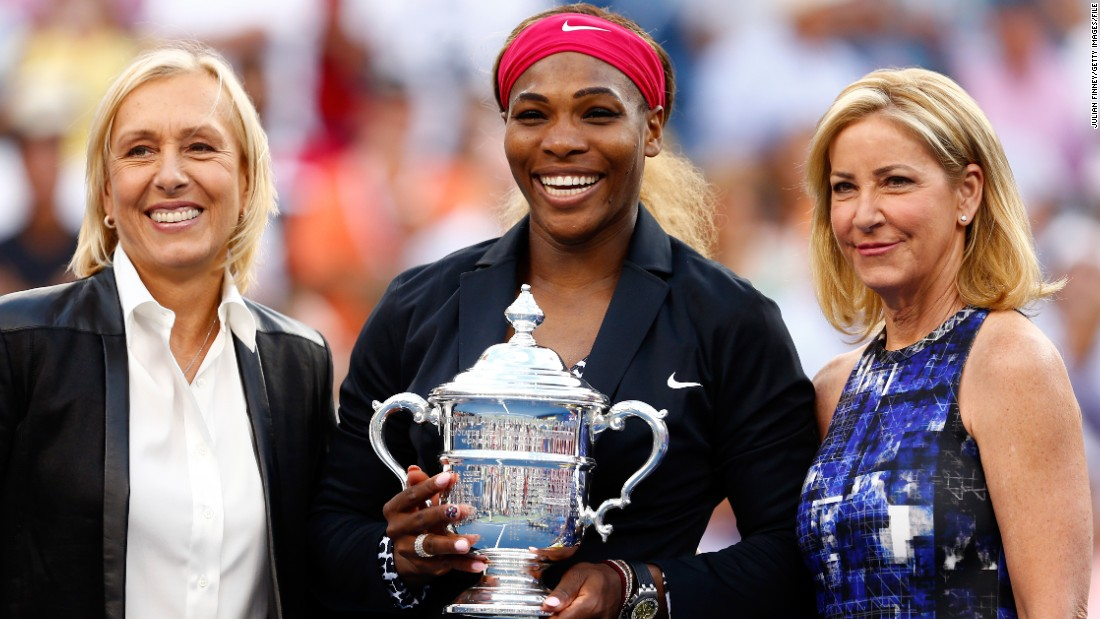Two legends of the game are backing Serena to get there. Martina Navratilova (L) and Chris Evert -- both of whom can boast 18 grand slam titles --  think Williams has one or two more majors left to win.