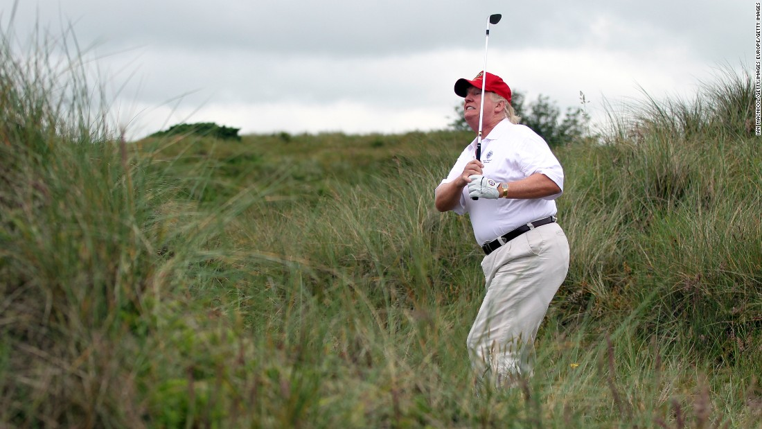 Donald Trump ditches press pool to play golf