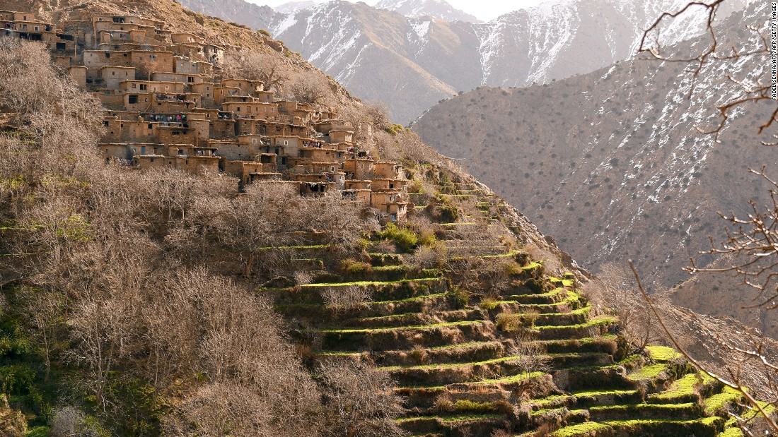 Houses in Taghzirt, an isolated village in the High Atlas. Remote communities play a part in ski trekking, says Adrian Nordenborg of Pathfinder Travels, helping transport equipment and supplies along paths through the mountains.