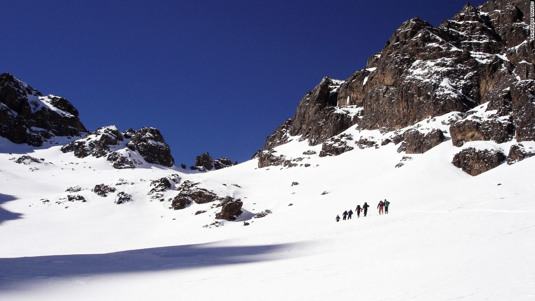 The most adventurous trekkers can scale Jbel Toubkal, the highest mountain in North Africa, and descend from near its peak at 13,671 feet. It may be rocky at the top -- and windy, says Nordenborg -- but there's soft, dry powder in the couloirs beneath.