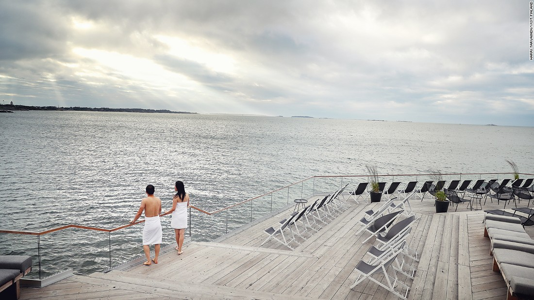 <strong>Seek out a sauna: </strong>Sauna, Finns' favorite pastime, is a good way to combat the cold. Löyly -- which means sauna steam in Finnish -- is an eco-friendly wooden sauna complex with views of the Baltic Sea.