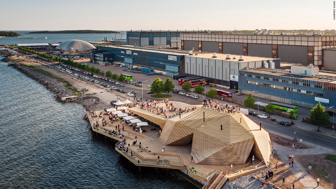 "<a href=""http://www.loylyhelsinki.fi/en/front-page/"" target=""_blank"">Löyly</a> (a Finnish term that refers to the steam from the rocks in a sauna) also sits on the waterfront in Helsinki. In addition to saunas, the contemporary wooden complex -- designed by Joanna Laajisto Creative Studio -- has a restaurant and bar."