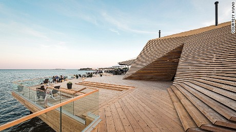 Opened in 2016, Loyly is a contemporary and eco-friendly wooden sauna complex.