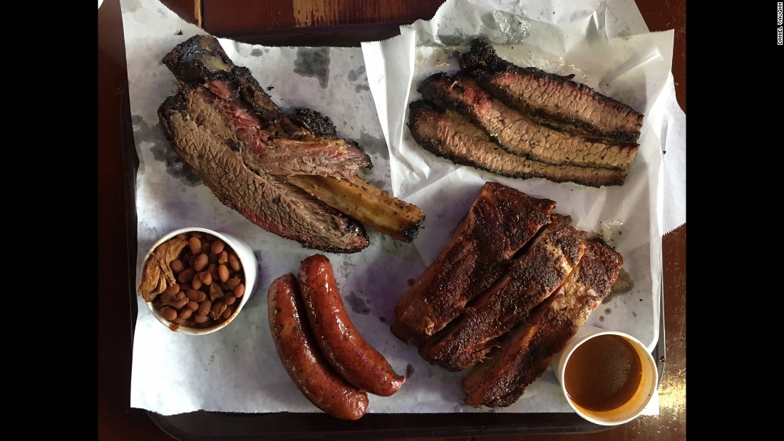 Louie Mueller Barbecue in Taylor offers Central Texas style barbecue.