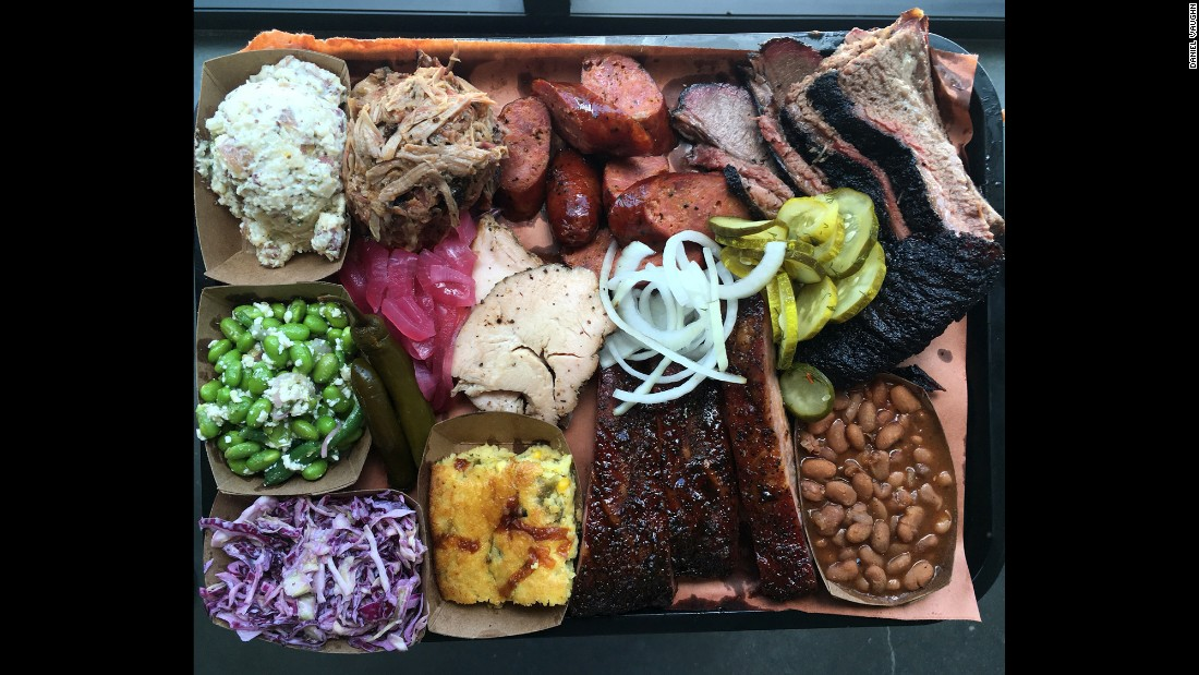 Lewis Barbecue in Charleston, South Carolina, features Texas big city style barbecue.