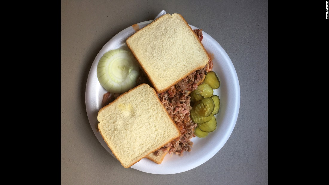 Pat Gee's Barbecue in Tyler, which features these chopped pork and chopped brisket sandwiches, is another great example of East Texas barbecue.