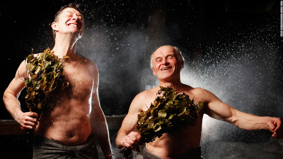 Finns believe that thrashing themselves with a bunch of birch twigs can improve circulation and enhance the overall sauna experience.