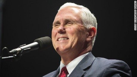 Indiana Governor Mike Pence, running mate of Republican Presidential nominee Donald J. Trump, speaks during a rally at the SNHU Arena on November 7, 2016 in Manchester, New Hampshire.