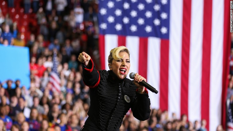Lady Gaga performs inside the Reynolds Coliseum on the campus of North Carolina State University in November.
