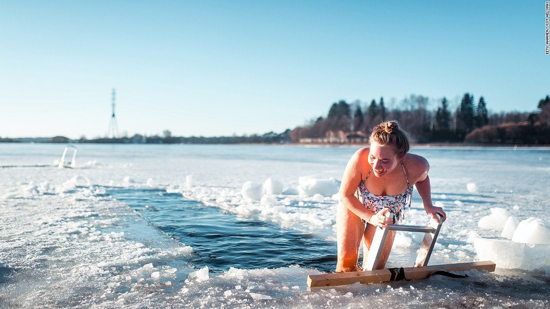Showering in between saunas or taking a dip in ice-cold water is all part of the experience.