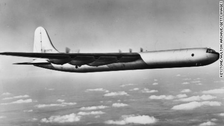 A US Army Air Force B-36 bomber.