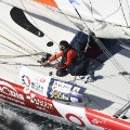 Vendee Globe sailing Swiss skipper Alan Roura