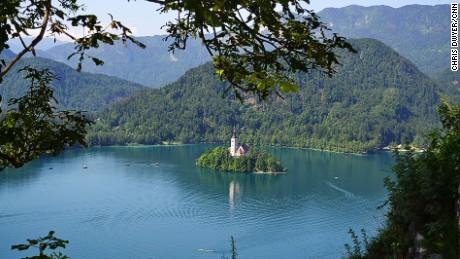 Emerald green: Lake Bled.