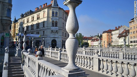 Tromostovje, or Triple Bridge, is a highlight of Slovenia's capital city.