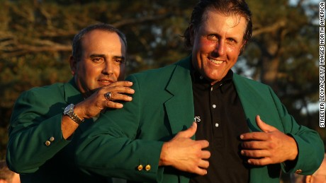 Phil Mickelson wore his Green Jacket to a drive-thru after winning the 2010 Masters.