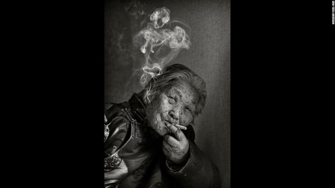 """Chain smoking at the age of 88, she is the grandmother of the woman who founded Tsolmon Ireesui Foundation, the charity I worked with."""