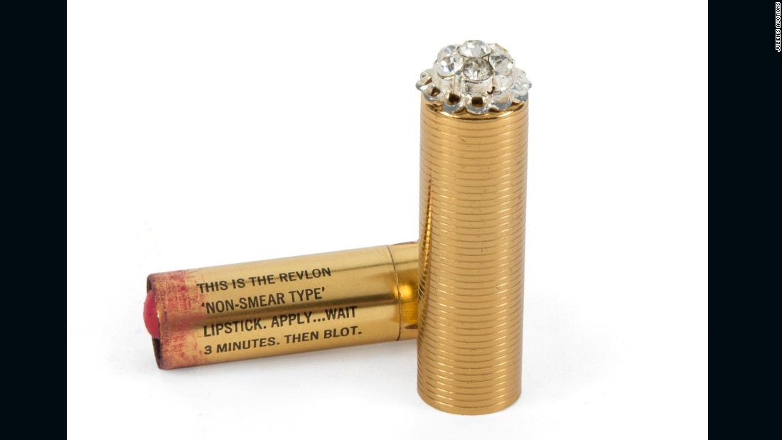 "Monroe's shade of Revlon lipstick? ""Bachelor's Carnation."" The used tube is expected to sell for up to $3,000."