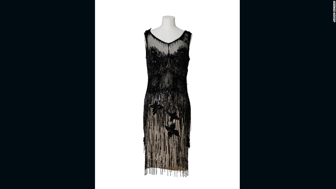 "This beaded cocktail dress was worn by Monroe in ""Some Like It Hot"" sold for $450,000."