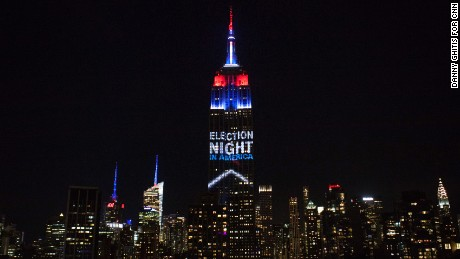 Empire State Building lights up on election night - CNN Video