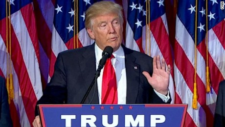 trump acceptance speech gesture