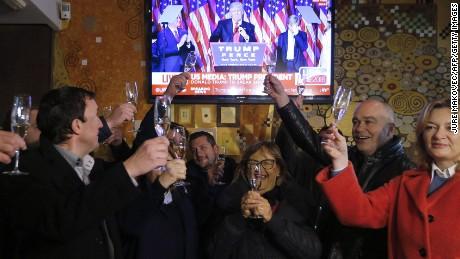 Residents in Melania Trump's hometown of Sevnica raise glasses