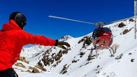 Heliski Marrakech takes skiers into remote slopes 10 miles north of the Jbel Toubkal area, by the village of Setti-Fatma.