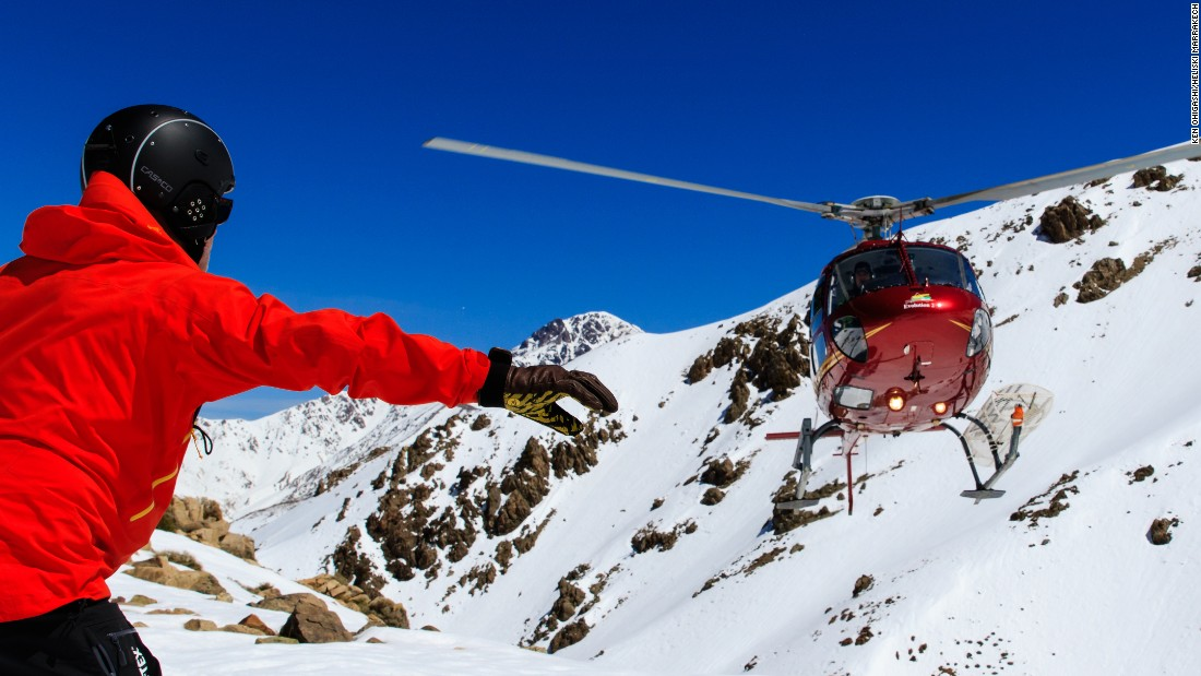 A helicopter, guided by a French pilot, takes skiers from the balmy valley floor to the snow in a mere 25 minutes.