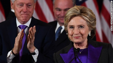 Topshot Us Democratic Presidential Candidate Hillary Clinton Makes A Concession Speech After Being Defeated By