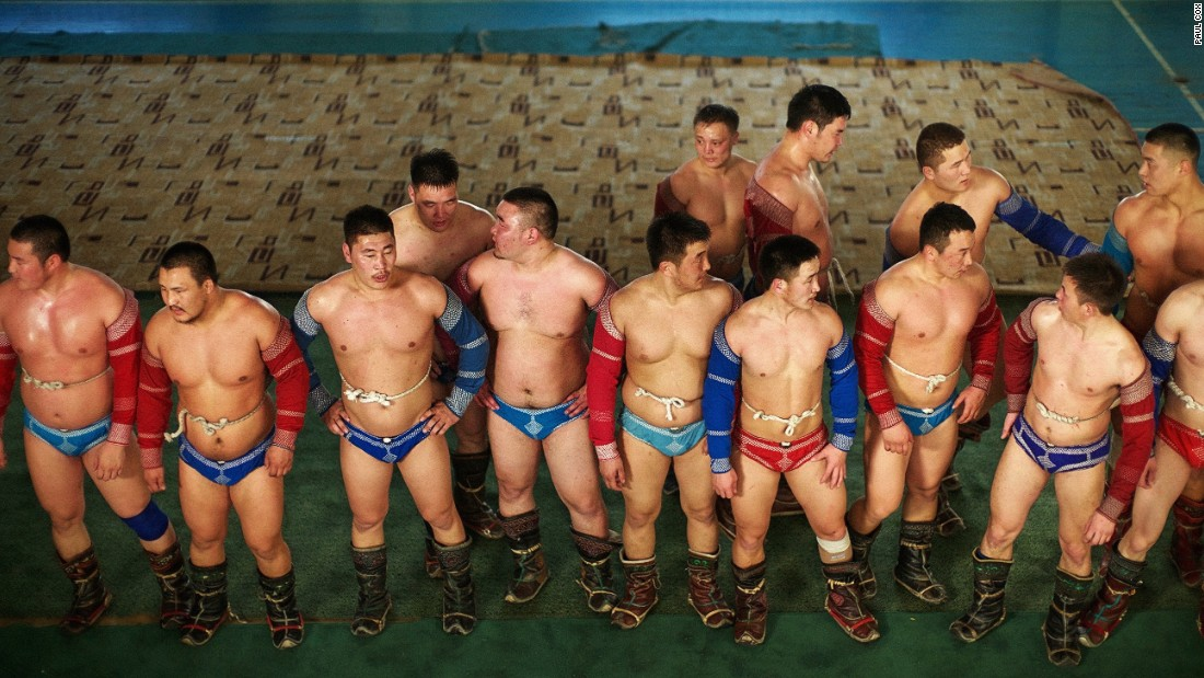 """Wrestling, Mongolia's national sport, is encouraged from a very young age, and top wrestlers are revered."""