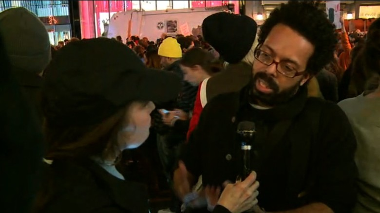 Protester: I wonder how much sexism was at play