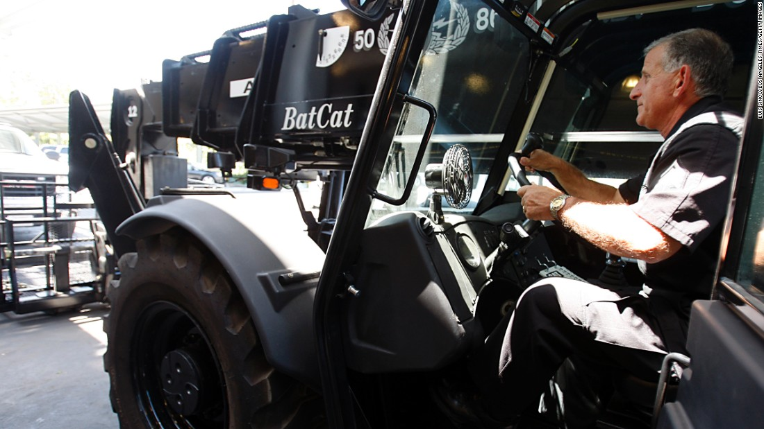 """The Los Angeles Police Department adopted the Batcat -- or the Bomb Assault Tactical Control Assessment Tool -- to help officers with things like bomb disposal. <a href=""""http://latimesblogs.latimes.com/lanow/2010/05/los-angeles-police-departments-massive-car-bomb-grabber-the-batcat.html"""" target=""""_blank"""">According to the L.A. Times</a>, the Batcat, a """"39,000-pound, remote-control vehicle that looks like a forklift truck on steroids with a massive telescopic arm,"""" cost the department nearly $1 million. """"We can pick up a large vehicle bomb and move where we want without risk to anyone's life,"""" said LAPD Capt. Horace Frank. """"The beauty of this thing is no one needs to get near."""""""