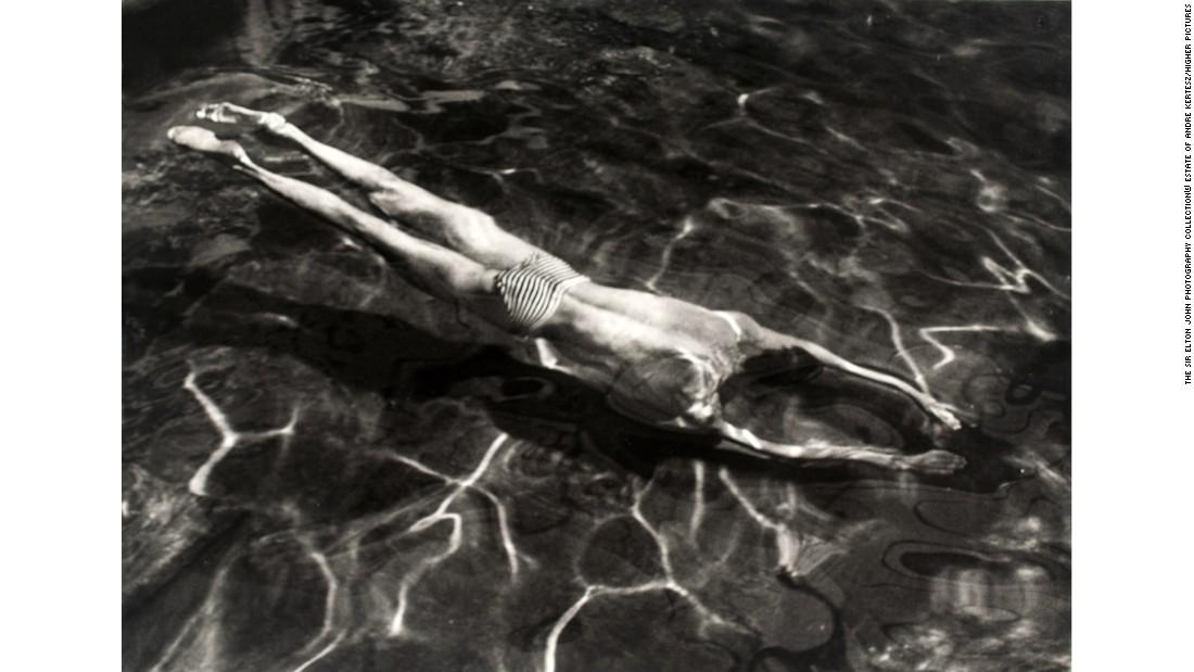"""Underwater Swimmer, Esztergom, Hungary"" (1917) by André Kertész"