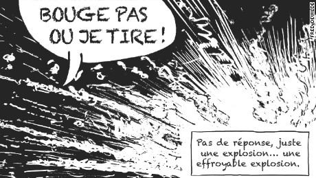 Graphic designer and artist Fred Dewilde told the story of his experiences inside the Bataclan during the Paris attacks in a comic book.