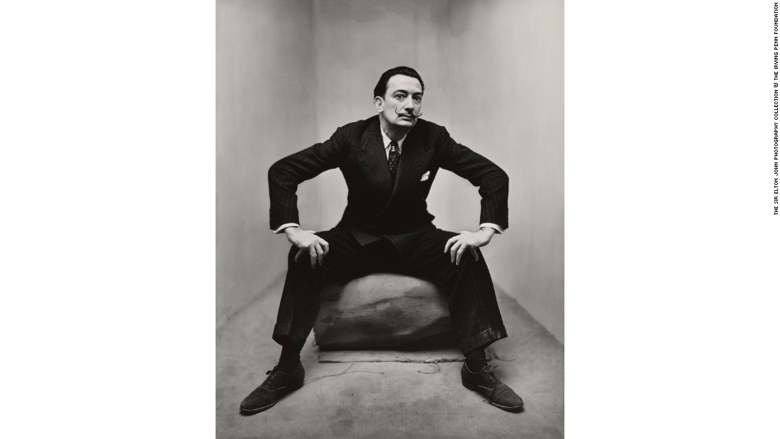 """Salvador Dali, New York"" (1947) by Irving Penn"