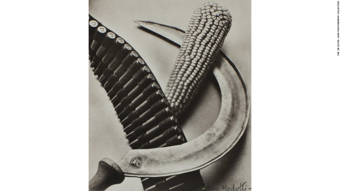 """Bandolier, Corn and Sickle"" (1927) by Tina Modotti"
