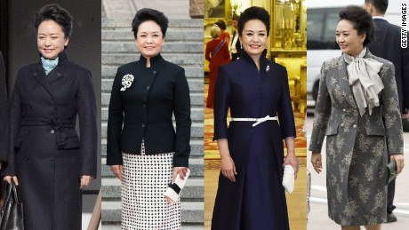 China's first lady Peng Liyuan in outfits designed by Ma Ke