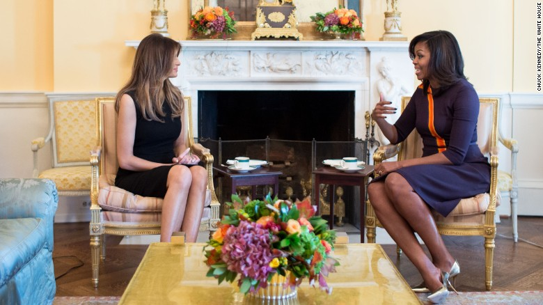 Melania Trump visits Michelle Obama at White House