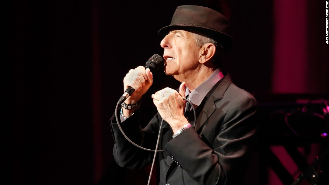 "Canadian singer-songwriter<a href=""http://www.cnn.com/2016/11/10/entertainment/leonard-cohen-singer-songwriter-dead/index.html"" target=""_blank""> Leonard Cohen</a> died at the age of 82, according to a post on his official Facebook page on November 10. A highly respected artist known for his poetic and lyrical music, Cohen wrote a number of popular songs, including the often-covered ""Hallelujah."""