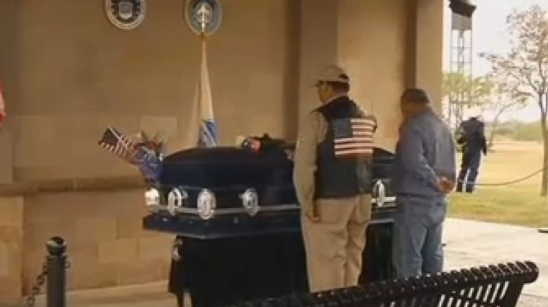 About 400 people showed up for funerals for two Vietnam vets who had no family or next of kin.