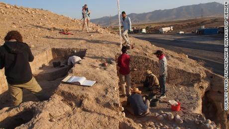 The ancient remains beneath the Kurdish village of Bassetki were under threat from highway construction.