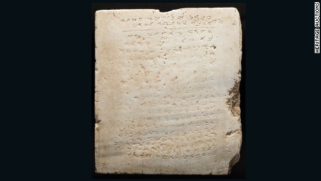 Bidding for this ancient tablet of the 10 Commandments will start at $250,000.