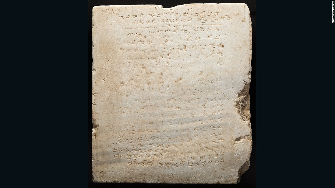 The earliest known stone copy of the Ten Commandments sold at auction in Beverly Hills in 2016 for $850,000.