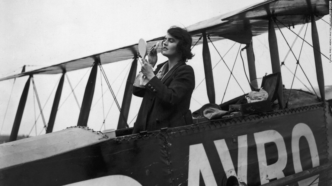 British Elsie Mackay was a famous silent film actress. She starred in eight films, before dying while trying to accomplish her other dream of becoming the first woman to fly across the Atlantic in March 1928. She picked the name Poppy Wyndam to avoid her father's ire.