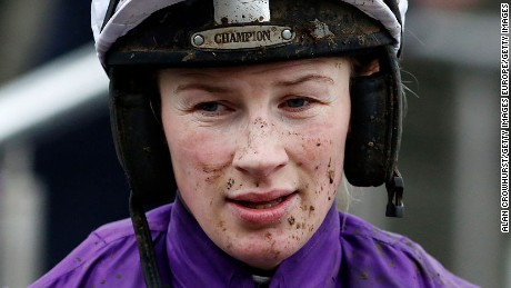 DUBLIN, IRELAND - DECEMBER 28: Nina Carberry poses at Leopardstown racecourse on December 28, 2015 in Dublin, Ireland. (Photo by Alan Crowhurst/Getty Images)