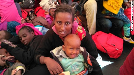 Migrants are rescued in the Mediterranean Sea by Doctors Without Borders on November 12.
