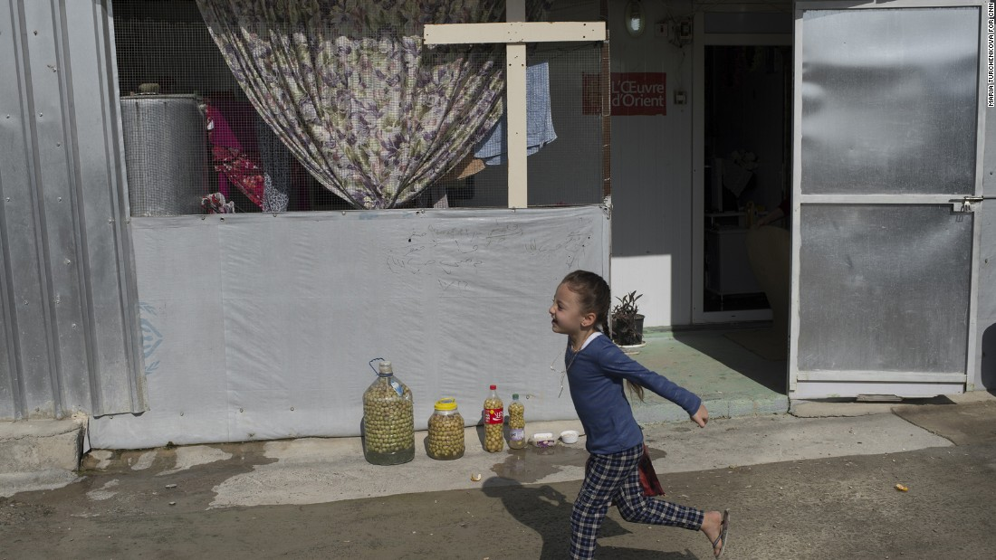 Nearly 6,000 Christian Iraqis are living in a camp in the Kurdish city of Irbil after ISIS forced them from their hometowns.